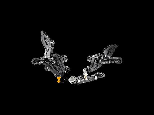 Footrest system from Bonamici for Honda CBR 1000 RR (08-16) | H008 / 9