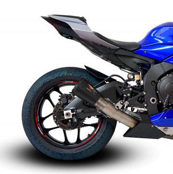 Austin Racing Slip-On (V3) inkl. Kat Ersatzrohr für Yamaha YZF-R1/M (15-20)