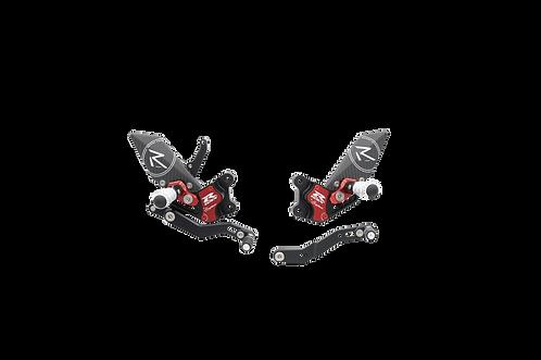 """Fußrastenanlage """"R"""" von LighTech für Suzuki GSX-R 600/750 (11-17) (mit ABE)"""