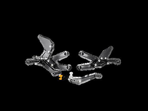 Footrest system from Bonamici for Triumph Daytona 675 / R (13-18) | TH03 / R