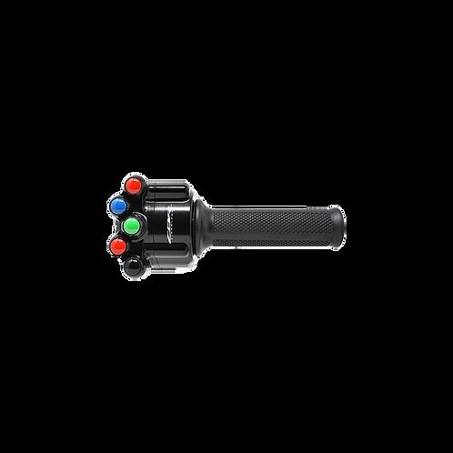 Throttle grip with handlebar switch for Honda CBR 1000 RR-R SC82 (20-21) JetPrime