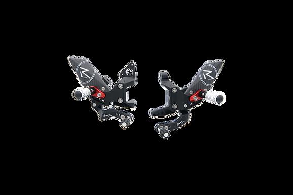 """Fußrastenanlage """"R"""" von LighTech für Ducati Panigale 899 (13-16) (mit ABE)"""