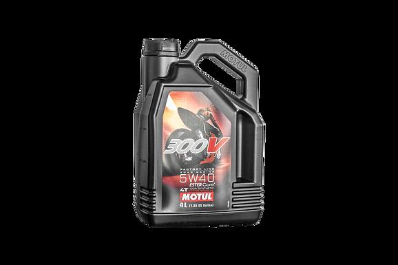 Motul 300V Power Racing Rennsport Motoröl Öl 5W40 4 Liter | 104135
