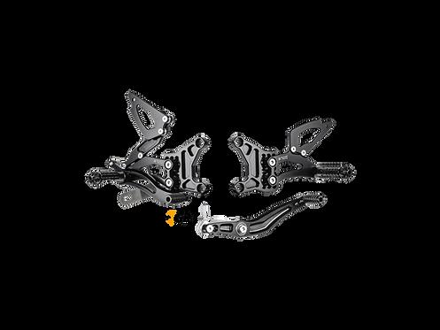 Fußrastenanlage von Bonamici für Yamaha YZF-R6 (06-16) | Y005