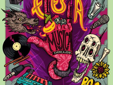 Ilustrando Afiche de Festival de Música