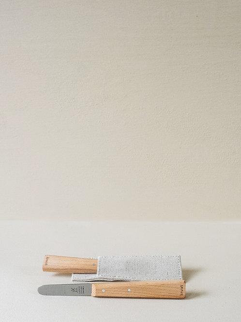 Kräutermesser mit Leinenhülle