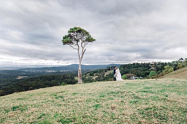 sunshine coast wedding photographer, queensland wedding photographer, australia wedding photographer, maleny, one tree hill, bridal photoshoot, veil, veil photos, mountain, view, pregnant, bride, groom, ring, kiss