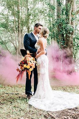 Sol Garden Gardens Gold Coast Wedding Photographer Smoke Bomb Australia