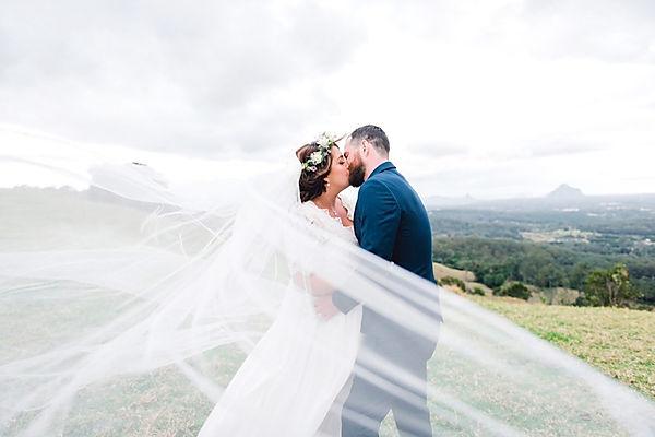 sunshine coast wedding photographer, queensland wedding photographer, australia wedding photographer, maleny, one tree hill, bridal photoshoot, veil, mountain, view, pregnant, bride, groom