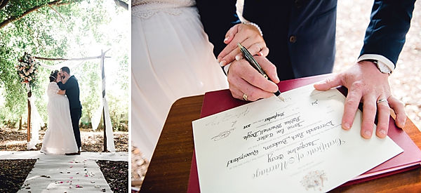 Buderim, sunshine coast wedding photographer, queensland wedding photographer, australia wedding photographer, park, wirreanda park, ceremony, garden, marriage certificate, kiss, marred