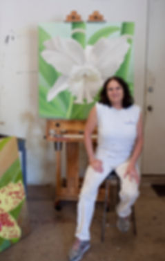 Christine Knize, Orchid Painter