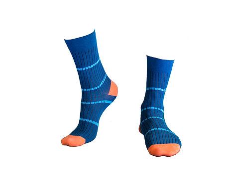 Stylish  Socks, კაცის წინდა ზომა 39-42. 43 -46. კოდი TIFLIS64 ფერი მუქი ლურჯი.