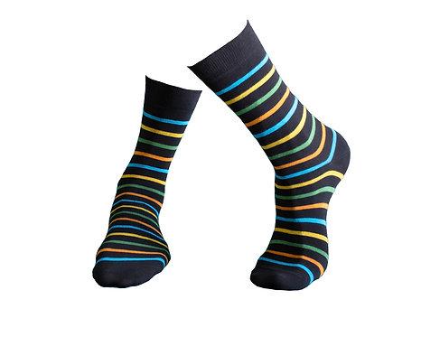 Stylish Socks კაცის წინდაზომა 39-42. 43-46. კოდი MOO12 ფერი შავი, ზოლებით.