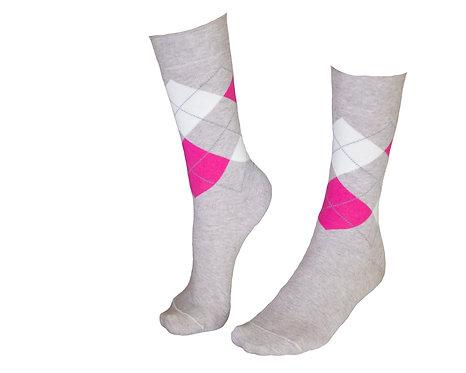 ქალის წინდა დიზანით  (STYLISH) კოდი TIFLIS55 ზომა 36-39 ფერი ვარდისფერი