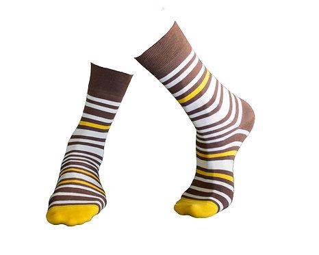 Stylish Socks, კაცის წინდა. ზომა 39-42. 43 -46. კოდი GW38 ფერი ყავისფერი.