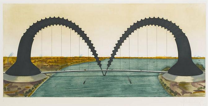 Claes-Oldenburg-Screwarch-Bridge-State-I