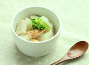 お正月食材使い切り♪【厚切りハムと蕪のスープ煮】作り方