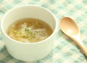秋の味覚。10月のおすすめレシピ【レタスとベーコンのスープ】
