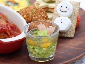 クリスマスパーティーにも使える【野菜のコンソメゼリー寄せ】【揚げないライスボール】