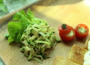 6月のレシピ【切り干し大根ときゅうりの和え物】【スタッフドトマト】作り方