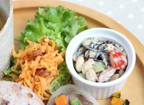 今月のプレートランチ【ひじきと大豆のサラダ】作り方