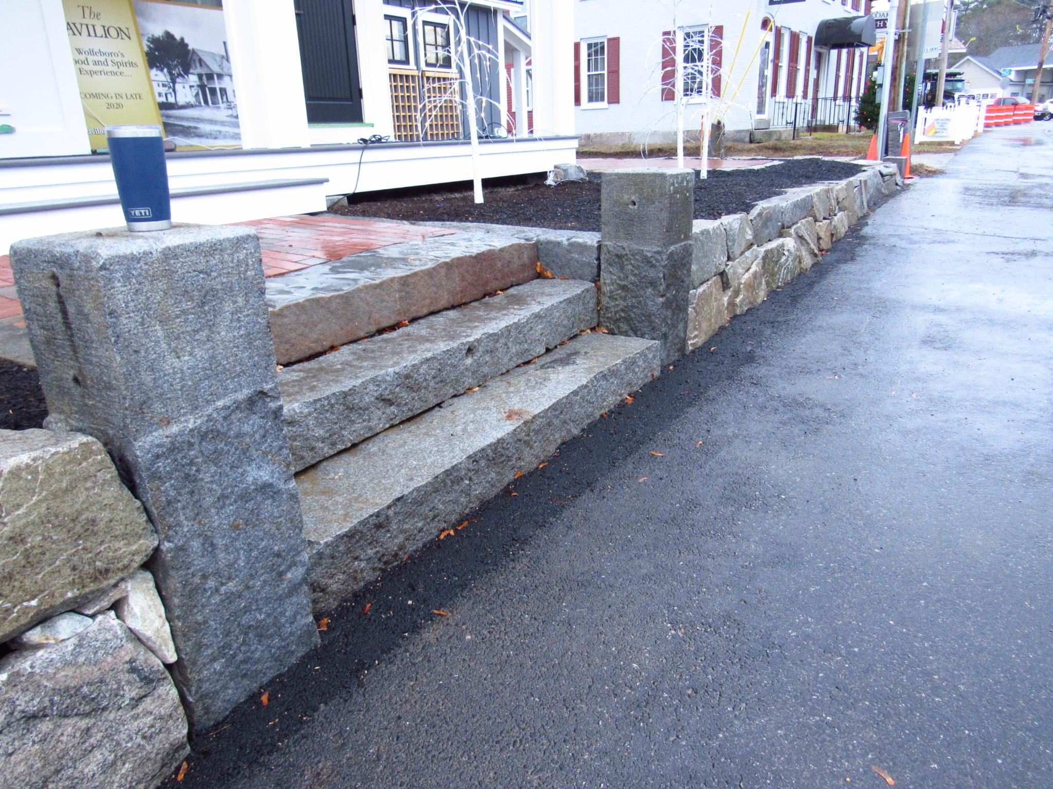 Pavilion steps