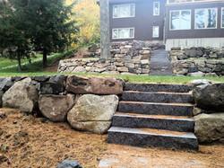 Granite steps to the lake