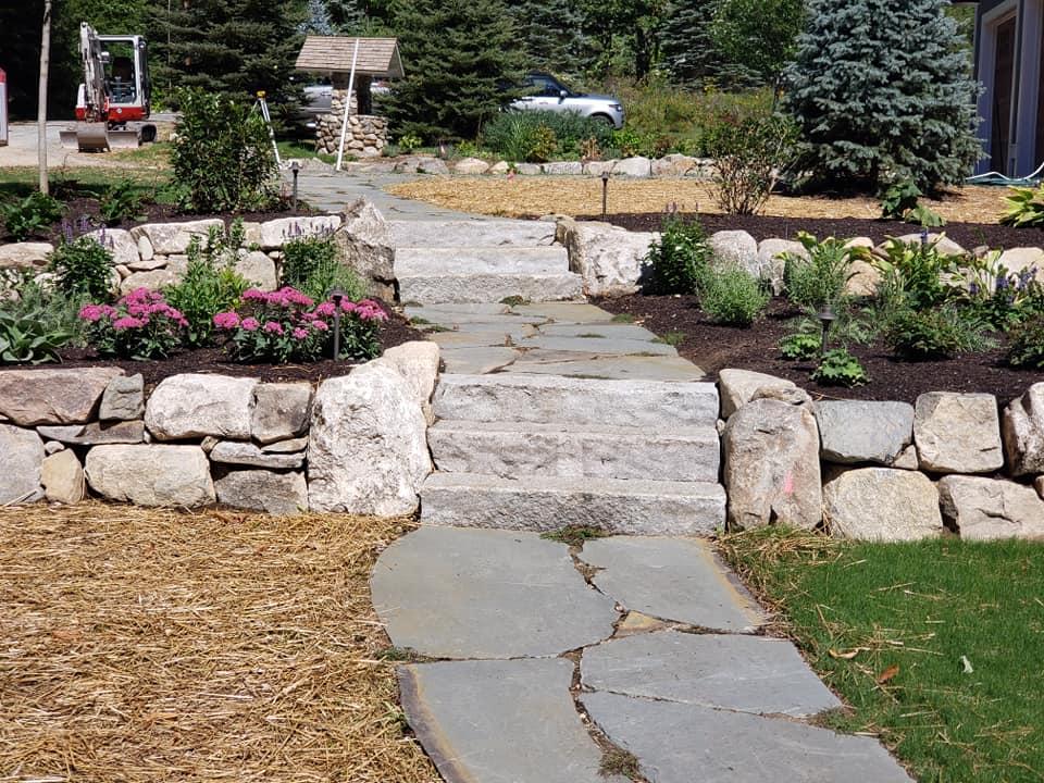 bedrock garden steps