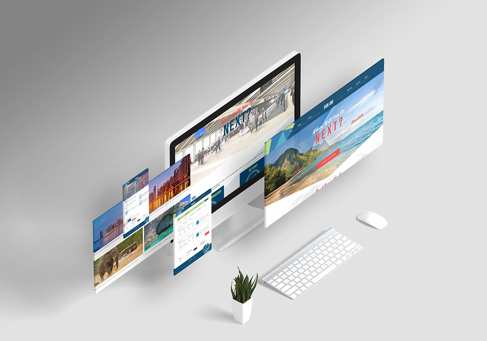 pan am redesign all screens