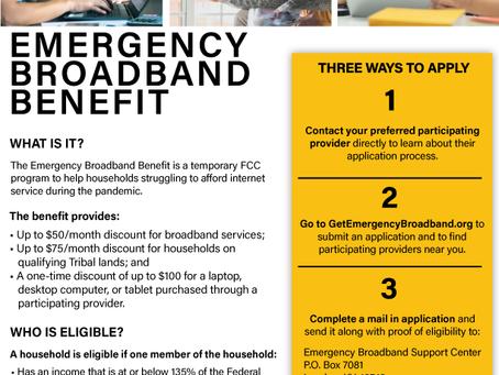 Emergency Broadband Benefit | Prestación de Emergencia para Banda Ancha (Internet)