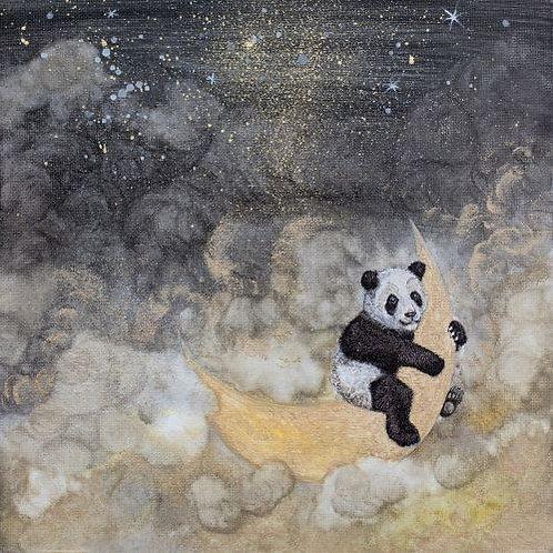 Panda na měsíci
