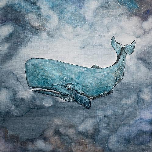 Velryba v oblacích
