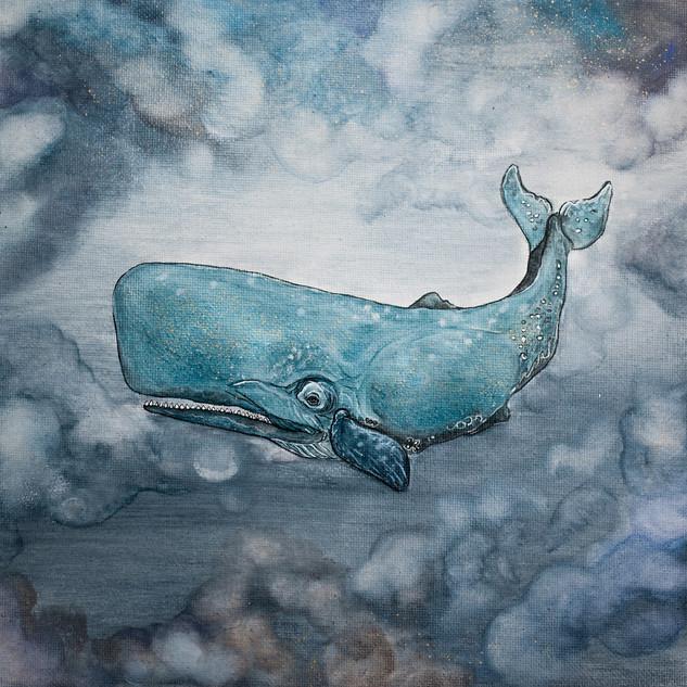 Velryba pluje oblohou...
