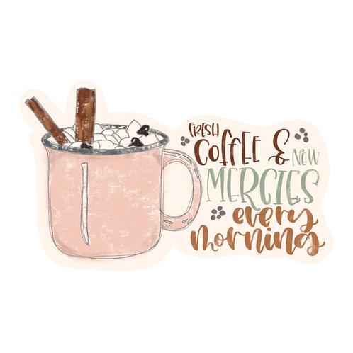 Coffee and New Mercies Sticker