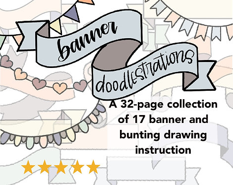 Banners Doodlestrations-A Step-by-Step Guide to Drawing Banners and Buntings-32