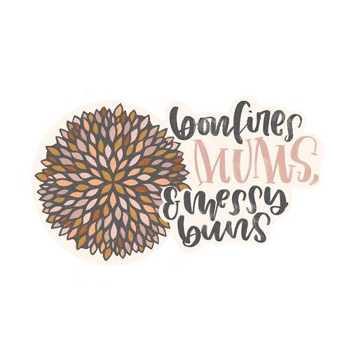 Mums and Buns Sticker