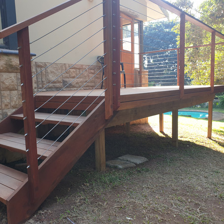 Balau timber deck in Kloof, KZN