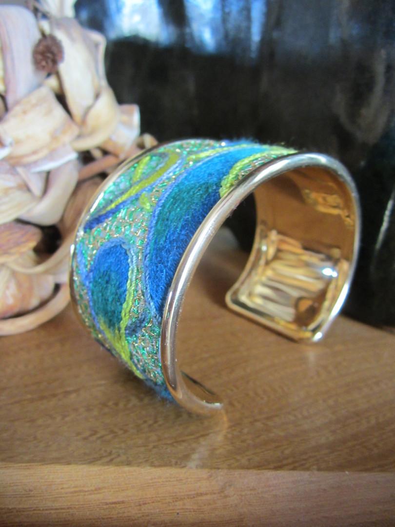 bracelet Joline emraude et or