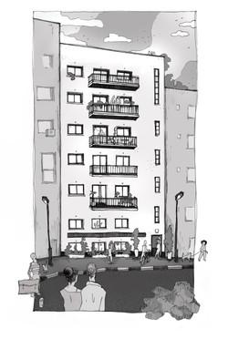 רחוב המגינים - הדמיה ליזם