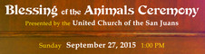 Blessing of the Animals Ceremony Banner
