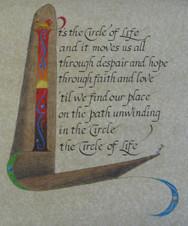 'Lion King' Calligraphy