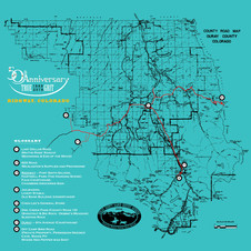 Ouray County Map for True Grit's 50th Anniversary - Turquoise