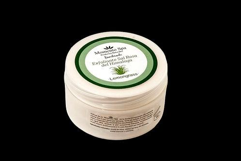 Exfoliante de Sal Rosa del Himalaya y Aceite de Lemongrass - 180 ml