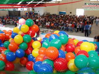 Día del niño en la comunidad de Altlacholoaya.