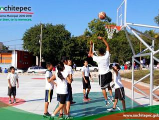 Inauguran 1ª parte Unidad Deportiva en Alpuyeca