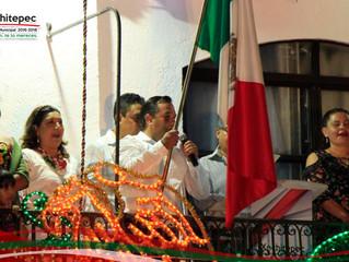 """Así se vivió el festejo del """"Tradicional Grito de Independencia"""" en Xochitepec."""