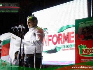 Rinde Alberto Sánchez 1er Informe de Gobierno