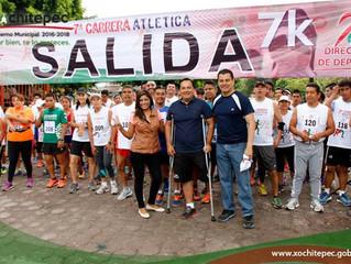 Celebra Xochitepec 7a carrera atlética