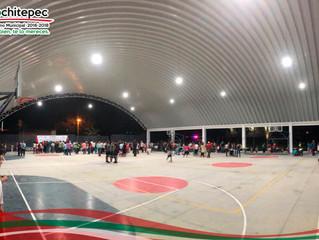 Inauguran techumbre monumental en la unidad deportiva La Gran Fuerza Alpuyeca.