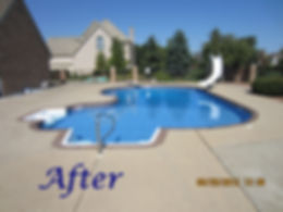 Inground pool renovation completed